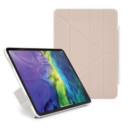iPad Pro 12.9 2020 (3rd & 4th Gen) Origami Smart Folio Case Dusty Pink -  Hero