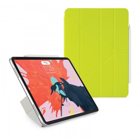 Pipetto 11-inch iPad Pro Origami Folio Pistachio Yellow - Hero