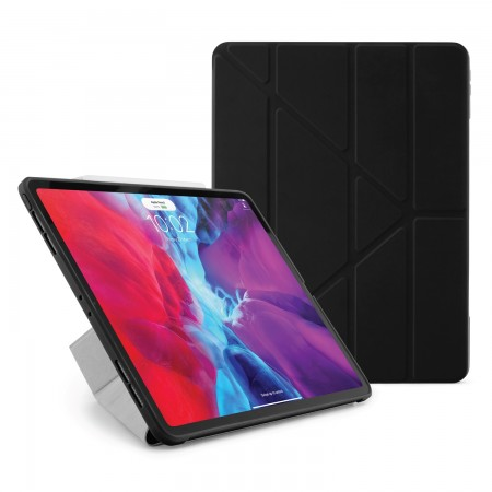 iPad Pro 12.9 2020 TPU Origami Case Black - Hero