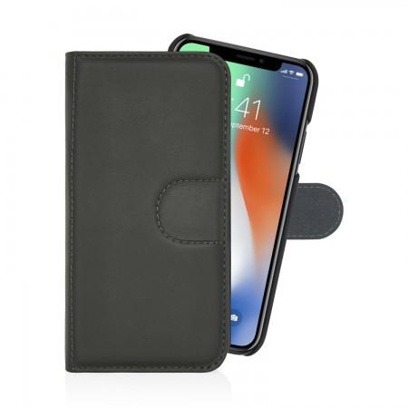 iPhone-x-large-wallet-dark-waxy-grey-front-open