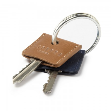 Key Cover Set - Tan Navy Leather
