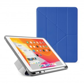 iPad 7th Generation Case 10.2 Cover Pencil Holder Royal Blue - Hero Image