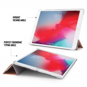 iPad Air 10.5 / Pro 10.5 Metallic Origami - Rose Gold & Clear