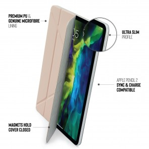 iPad Pro 11 (1st & 2nd Gen) & iPad Air 4 (2020) Origami Folio 5-in-1 Case - Dusty Pink