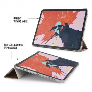 iPad Pro 11 Case Origami - Rose Gold & Clear