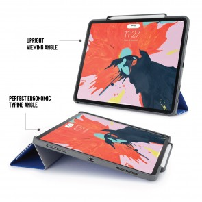 iPad Pro 12.9 (3rd Gen) Origami Pencil Case 5-in-1 Ruggedised Case - Royal Blue