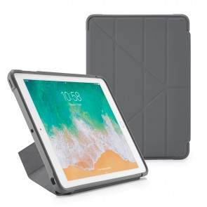 Pipetto iPad 9.7 inch Origami Case Grey - Front