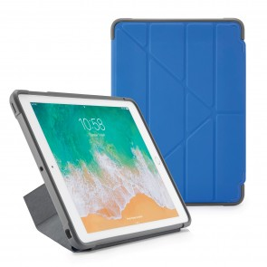 Pipetto iPad 9.7-inch Origami Shield Case Royal Blue - Front