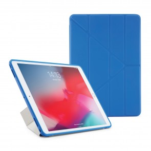 Pipetto iPad Air 10.5 and iPad Pro 10.5 Origami Case Royal Blue and Clear - Front