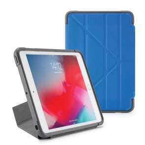 Pipetto iPad mini 5 / iPad mini 4 Origami Shield Case Royal Blue - Front