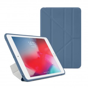 Pipetto iPad mini 5 / iPad mini 4 Origami TPU Case Navy and Clear - Front