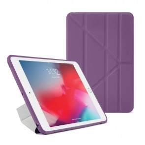 Pipetto iPad Air 10.5-inch and iPad Pro 10.5 TPU Origami Case Purple and Clear - Front