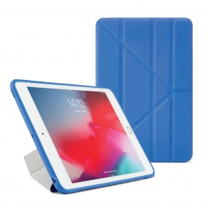 Pipetto iPad mini 5 / iPad mini 4 Origami TPU Case Royal Blue and Clear - Front