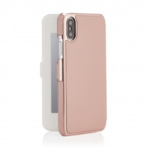 phone-X-silm-wallet-pink mirror-back-open