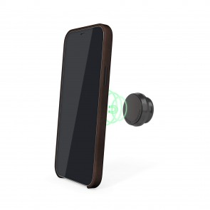 iPhone 12 Mini (5.4-inch) 2020 - Magnetic Leather iPhone Case - Brown