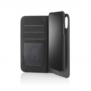 iPhone X/XS 2-in-1 Leather Magnetic Folio Case - Black