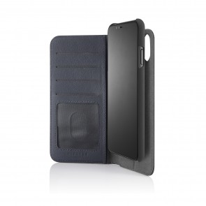 iPhone x medium wallet black - front
