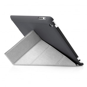 iPad 2, 3, 4 Origami Case - Dark Grey