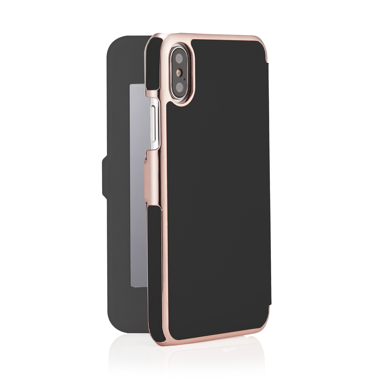 finest selection 53a60 9c100 iPhone X/XS Slim Mirror Case - Black & Rose Gold (Online Exclusive)