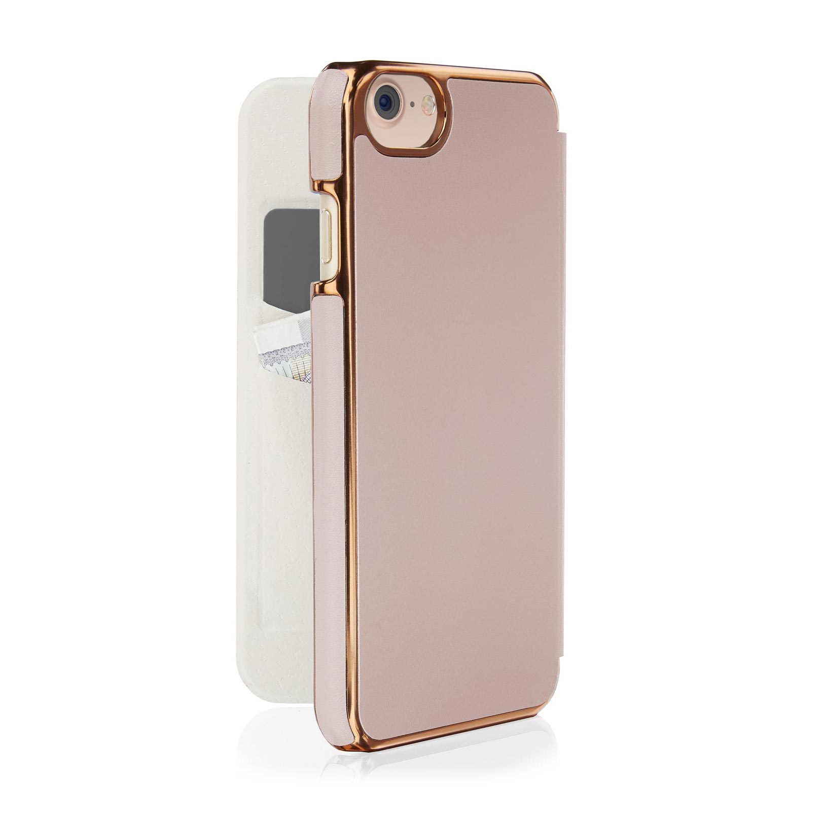best service e8e02 cab3a iPhone 8 Slim Wallet Case - Dusty Pink (Also Fits iPhone 6/6S/7)