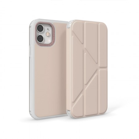 iPhone 12 (6.1)-Origami Folio-Dusty-pink-overview