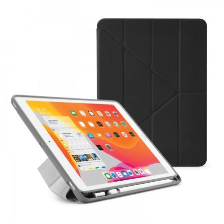 iPad 7th Generation Case 10.2 Cover Pencil Holder Black - Hero Image