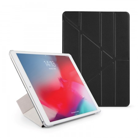Pipetto iPad Air 10.5 / Pro 10.5 Origami Luxe Case Black - Front