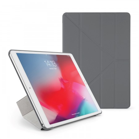 Pipetto iPad Air 10.5 / Pro 10.5 Origami Case Dark Grey - Front
