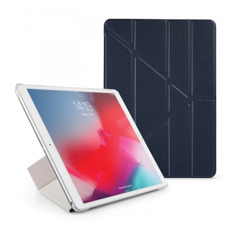 Pipetto iPad Air 10.5 / Pro 10.5 Origami Luxe Case Navy - Front