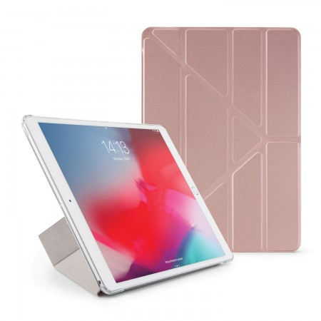 Pipetto iPad Air 10.5 / Pro 10.5 Origami Metallic Case Rose Gold - Front