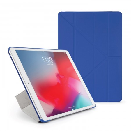 Pipetto iPad Air 10.5 / Pro 10.5 Origami Case Royal Blue - Front