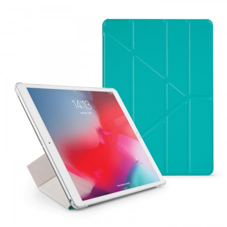Pipetto iPad Air 10.5 / Pro 10.5 Origami Luxe Case Turquoise - Front
