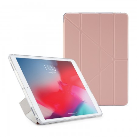 Pipetto iPad Air 10.5-inch and iPad Pro 10.5 TPU Luxe Case Dusty Pink and Clear - Front
