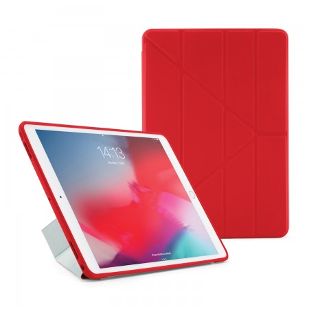 Pipetto iPad Air 10.5 and iPad Pro 10.5 Origami TPU Case Red and Clear - Front