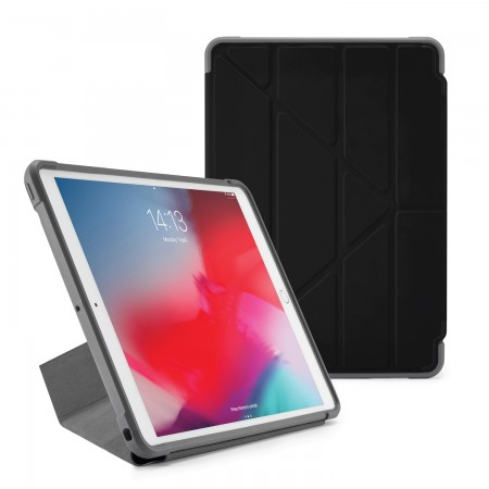 Pipetto iPad Air 10.5-inch and iPad Pro 10.5 Origami Shield Case Black - Front