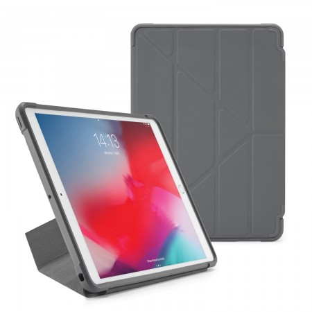 Pipetto iPad Air 10.5-inch and iPad Pro 10.5 Origami Shield Case Dark Grey - Front