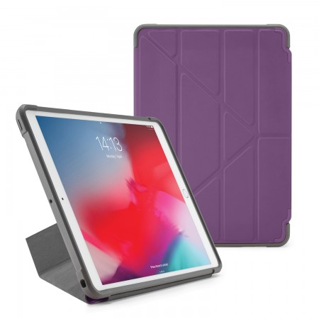 Pipetto iPad Air 10.5-inch and iPad Pro 10.5 Origami Shield Case Purple - Front