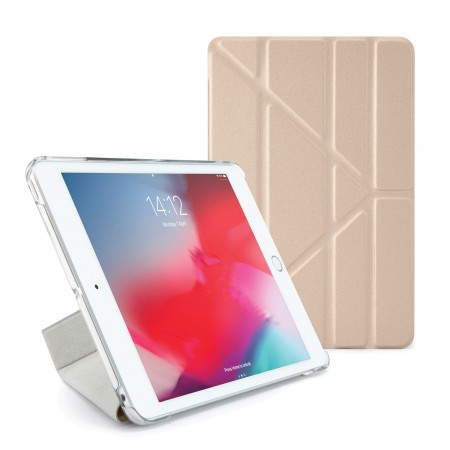 Pipetto iPad mini 5 / iPad mini 4 Origami Metallic Case Gold and Clear - Front