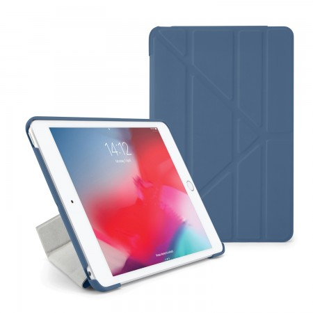 Pipetto iPad mini 5 / iPad mini 4 Origami Case Royal Navy - Front