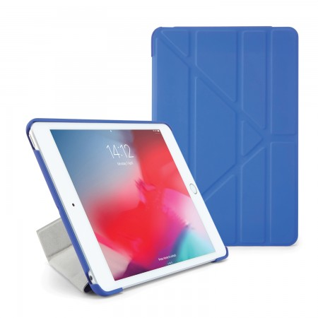 Pipetto iPad mini 5 / iPad mini 4 Origami Case Royal Blue - Front