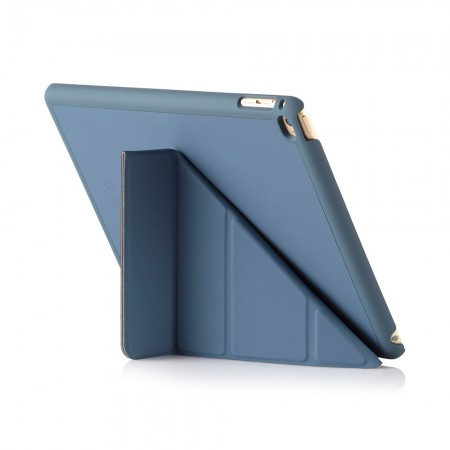 Pipetto iPad Air 2 Origami Case  Navy - Standing Position 1