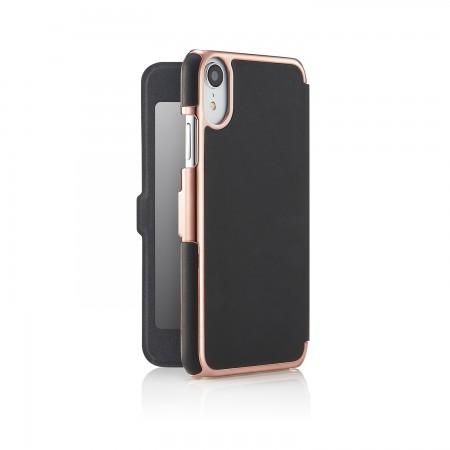 iPhone xr slim black rose fold - back open