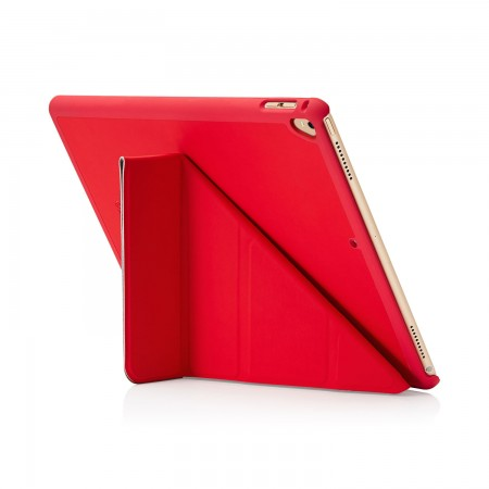 Pipetto iPad Pro 12.9 2nd Gen Origami Case Red - back exterior