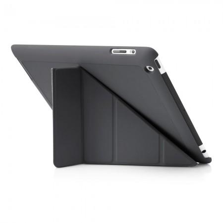 Pipetto iPad 2,3,4 Origami case - Grey exterior