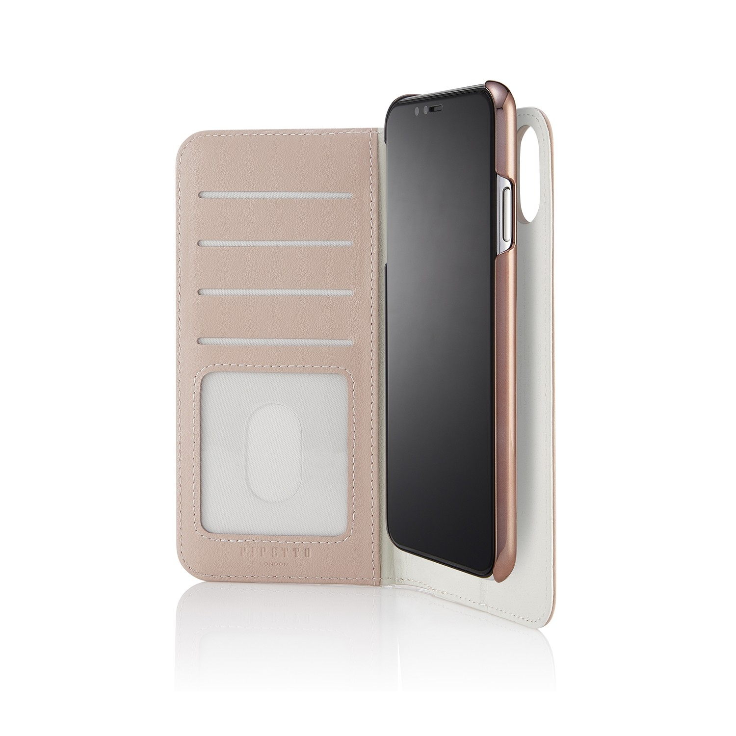 competitive price aa37d 212d1 iPhone XS Max 2-in-1 Leather Magnetic Folio Case - Dusty Pink