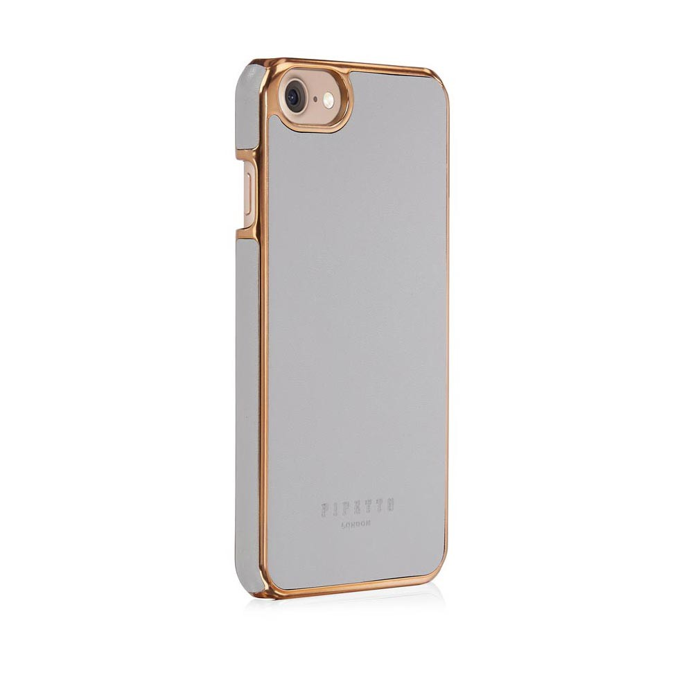 747b1bbeee iPhone 7 / iPhone 6 / iPhone 6S Leather Snap Case Magnetic - Grey