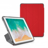 Pipetto iPad 9.7-inch Origami Shield Case Royal Red - Front