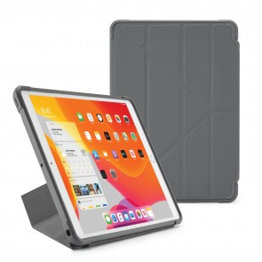 Pipetto iPad 7th Generation Dark Grey Origami Shield Case - Hero