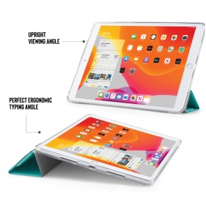 iPad 10.2 (7th & 8th Generation) Origami Case (TPU) - Turquoise Lambskin