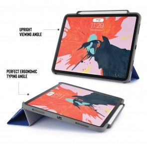 iPad Pro 11 Origami Pencil Case 5-in-1 Ruggedised Case - Royal Blue